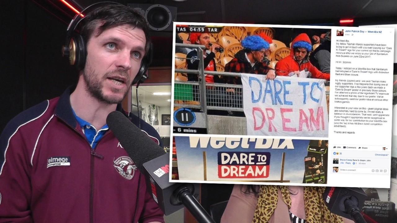 john day reckons weetbix stole his dare to dream slogan