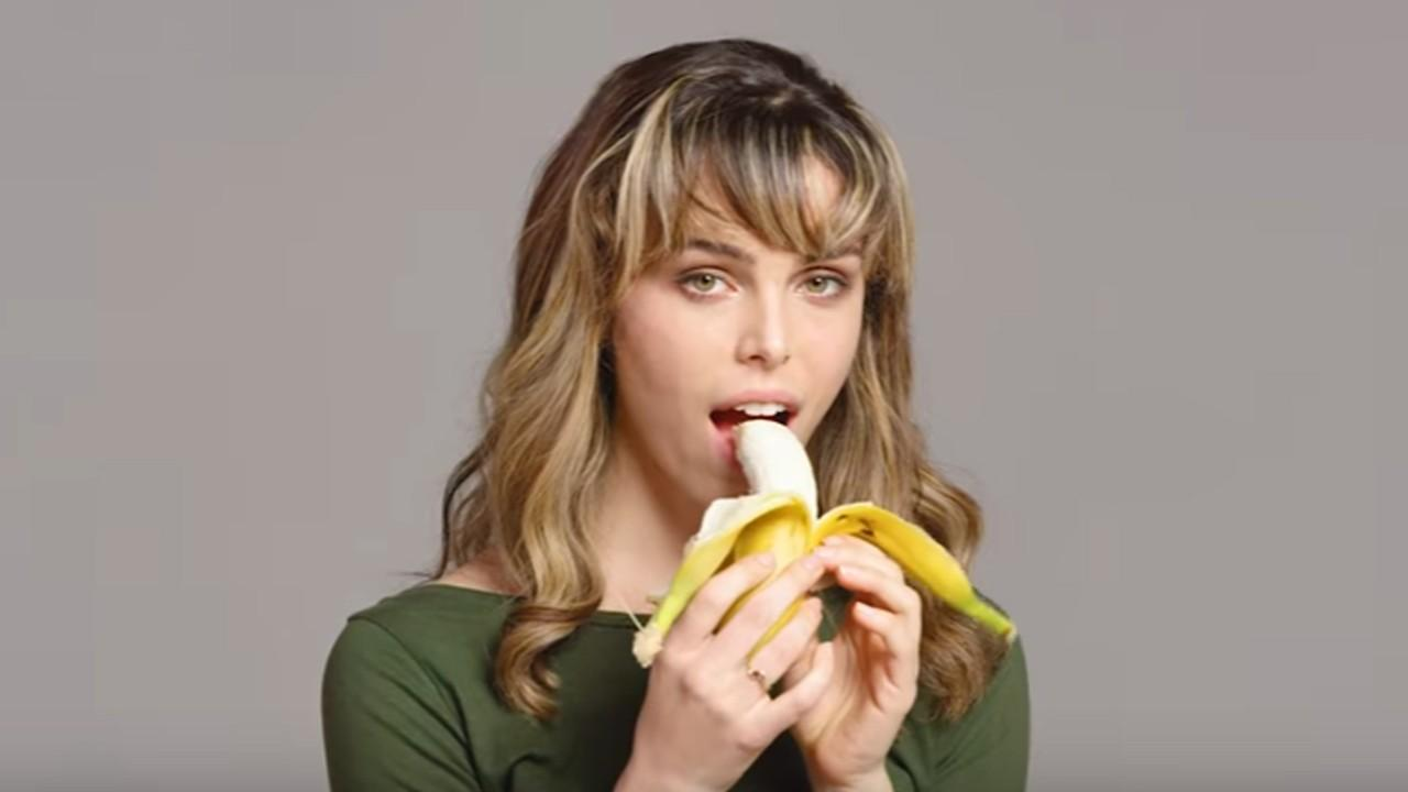 Heres 100 people seductively eating a banana, just because